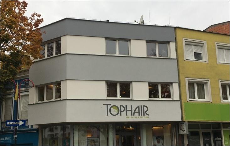 Fassadengestaltung Friseurbetrieb