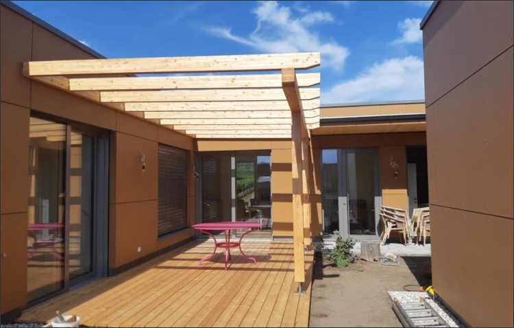 Holzbau Einfamilienhaus
