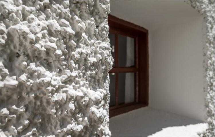 Fassadendetail saniert